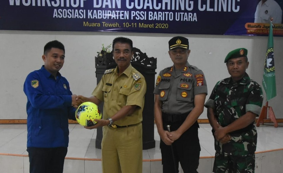 Askab PSSI Barut Gelar Coaching Clinic
