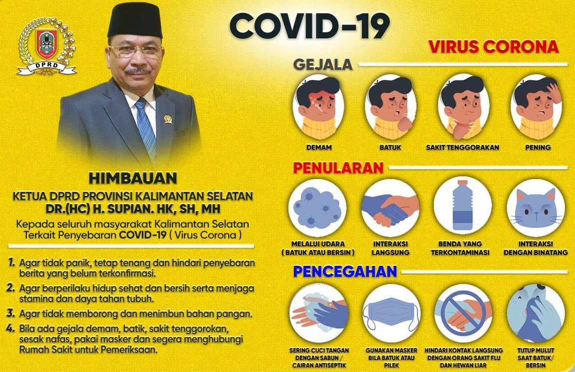 Ketua DPRD Kalsel Imbau Soal Covid-19