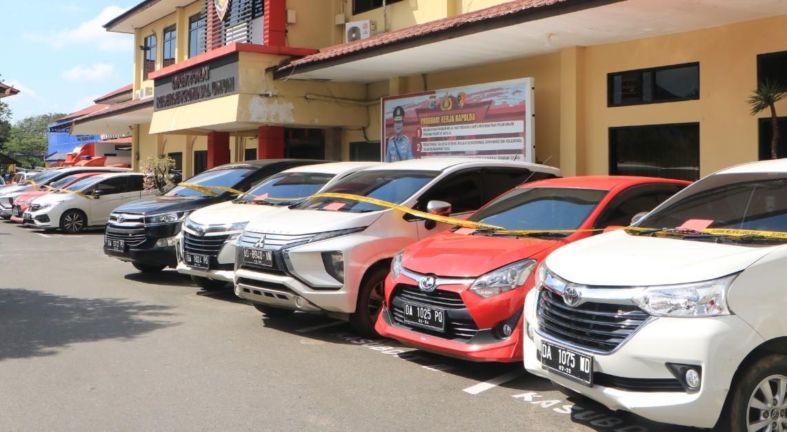 Komplotan Penggelap Mobil Rental Digulung Polda Kalsel