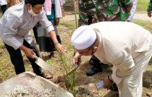 Tinjau Pantai Cemeti, Wagub Kalteng Tanam Kurma di Nurul Haq