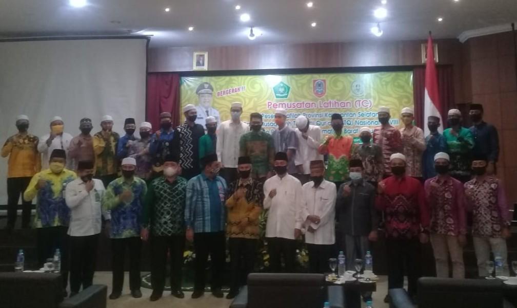 Duta Kalsel ke MTQ Padang Jalani TC