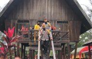 Polda Kalteng Renovasi Rumah Betang