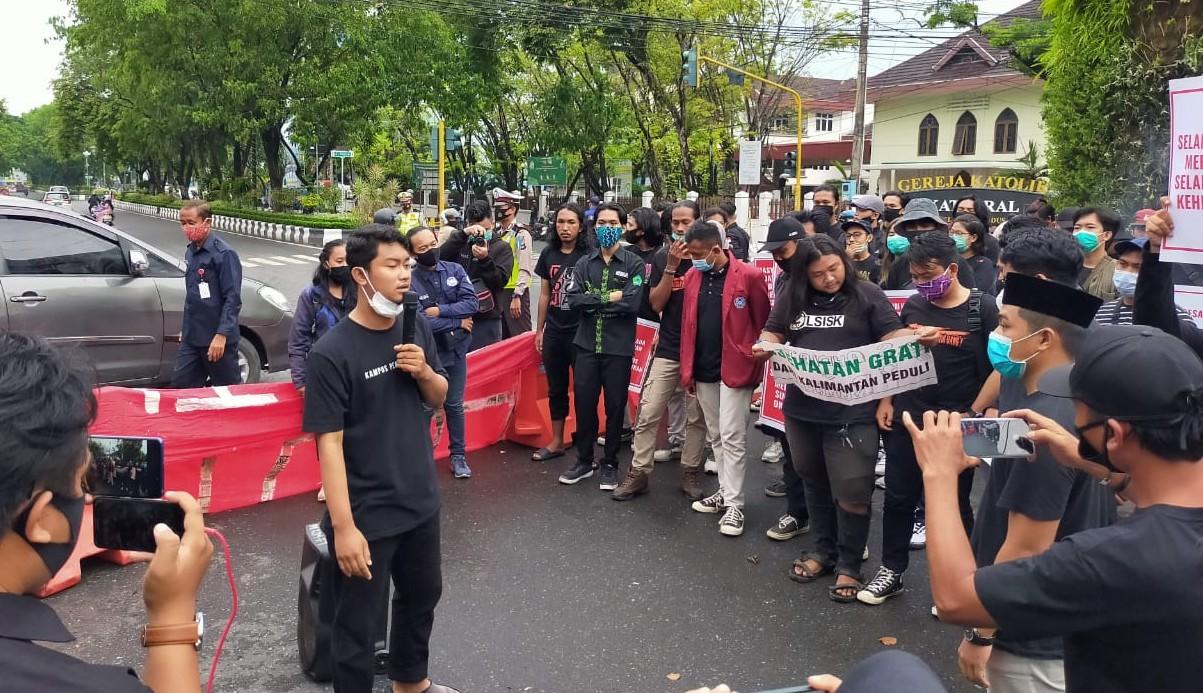 Kapolda Apresiasi Demo BEM Kalsel Tolak UU Ciptaker Tertib