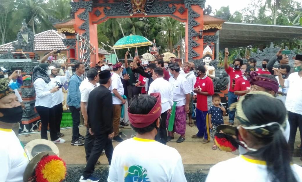 Disambut dengan Pendet, Wonorejo Siap Sumbang Suara ke ZR
