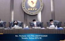 DKPP Pecat Arief Budiman sebagai Ketua KPU RI