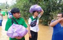 Pemuda Ansor HSS Bagikan Bantuan ke Korban Banjir
