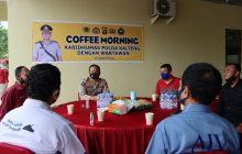 Jabat KabidhumasPolda Kalteng, Kenalan dengan Awak Media