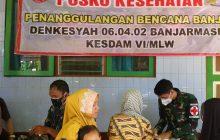 Kesdam VI/Mlw Gelar Pelayanan Kesehatan di Waki