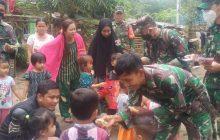 TNI Dampingi Tim Trauma HSU ke Hantakan