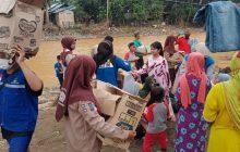 SWK Kodim Barabai Salurkan Bantuan ke Hantakan