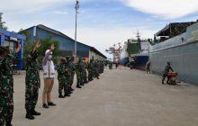 Tuntaskan Tugas Kemanusiaan di Kalsel, KRI ADRI-LDilepas Danrem Antasari