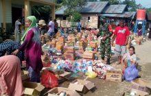 Kodim Barabai Distribusikan Logistik keKorban Bencana