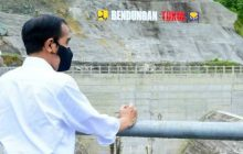 Jokowi Resmikan Bendungan Tukul Pacitan