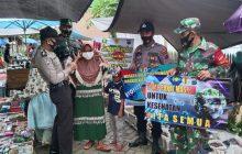 Kodim-Polres Edukasi PPKM di Pasar