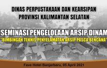 SKPD Kalsel Bimtek Penyelamatan Arsip