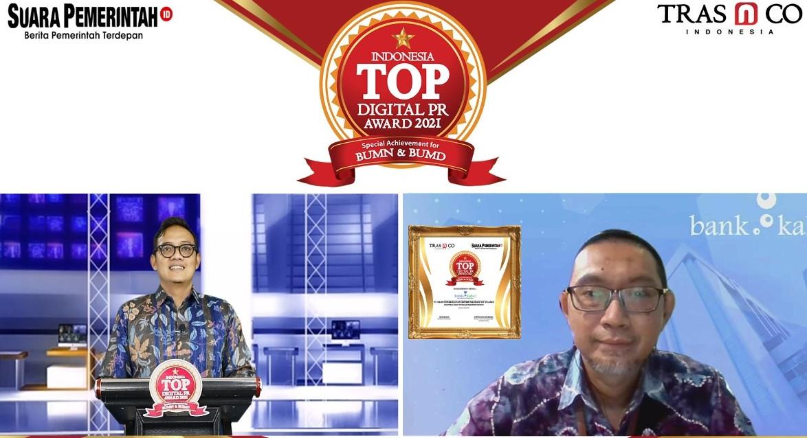 Bank Kalsel Raih Indonesia TOP Digital PR Award 2021
