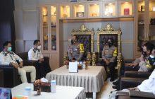 Kapolda Kalteng Terima Kunjungan KPU Provinsi