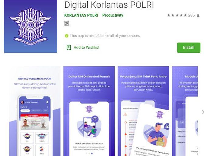 Korlantas Polri Luncurkan Aplikasi Pelayanan SIM Online