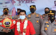 Juara WBCAsal Gumas Disambut Kapolda Kalteng