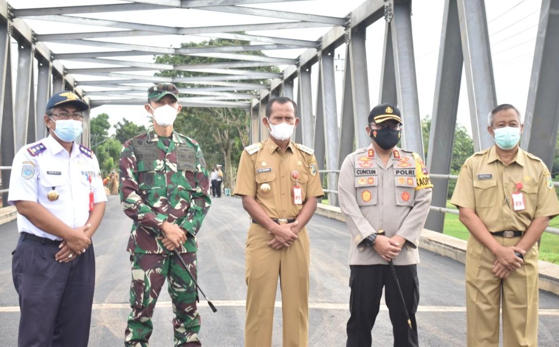 Jembatan Tabanio II Kembali Berfungsi