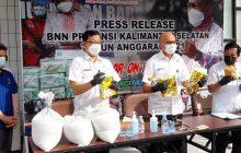 Peredaran 8 Kg Sabu Digagalkan BNN Kalsel