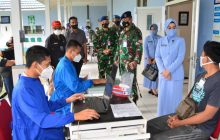 Songsong Hari Bakti ke-74, TNI AU Bombardir Banjarbaru dengan Vaksinasi