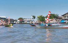 Lanal Banjarmasin-Ditpolair Gelar Perahu Hias Meriahkan 17 Agustus