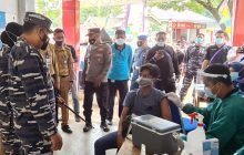 Sebuan Vaksin Tahap 2 TNI-AL Sasar Tabanio