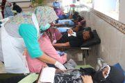 Songsong HUT ke-76 TNI, Lanud Sjamsudin Noor Donor Darah