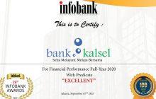 Majalah Infobank Anugerahi Bank Kalsel Berkinerja Sangat Bagus