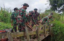 TMMD ke-112 Benahi Jembatan Akses ke Pertanian