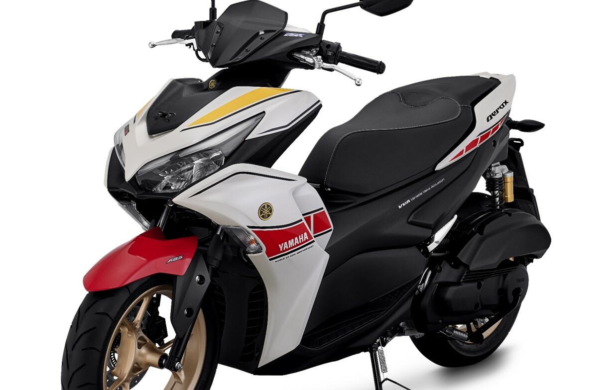 Yamaha Sematkan Simbol 6 Dekade Kejayaan Balap Duniadi All New Aerox 155 Connected ABS