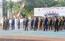 Forkopimda Kalsel Ikuti Upacara HUT ke-76 TNI di Makolanal Banjarmasin