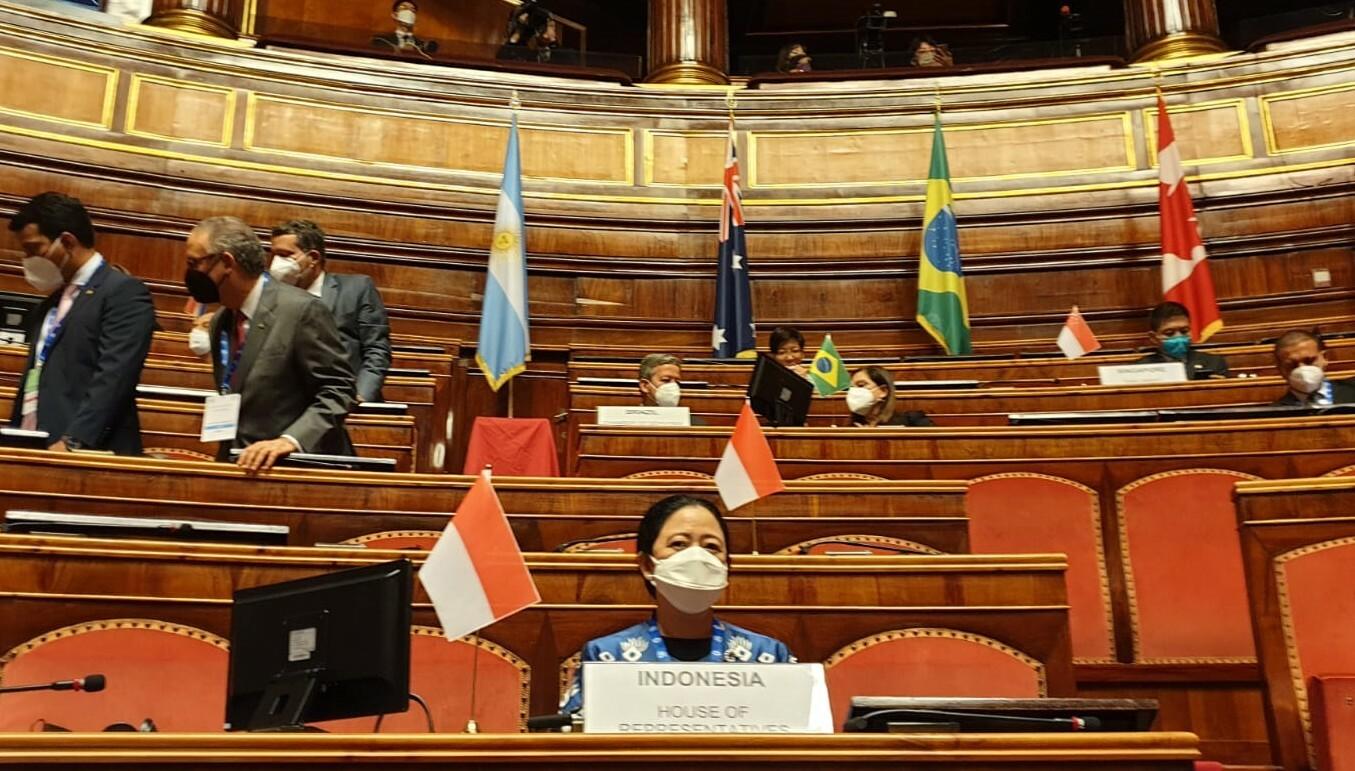 Di Forum P20 Roma, Puan Ajak G20 Tingkatkan Kemitraan Akhiri Pandemi